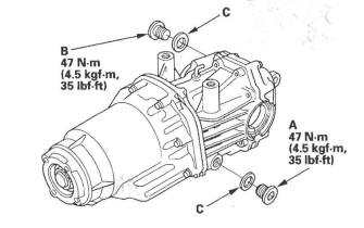 Honda CR-V. Rear Differential