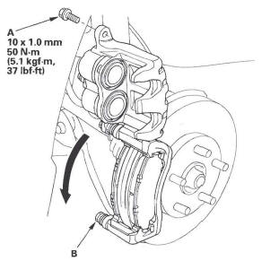 Honda CR-V. Conventional Brake Components